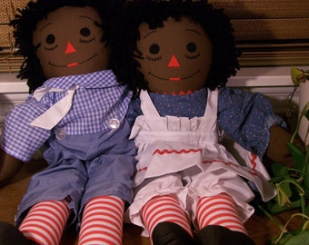 "25"" raggedy ann and andy"