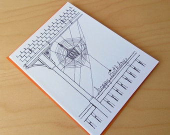 Spiderweb Birthday Card