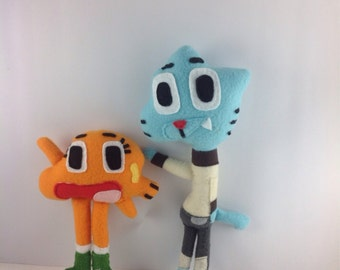 Made to Order- Darwin and Gumball plush toys.