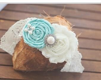 Aqua wedding Garter , lace wedding garter, vintage inspired wedding garter