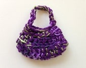 Handmade Barbie Clothes Purse Handbag Crochet Purple Variegated