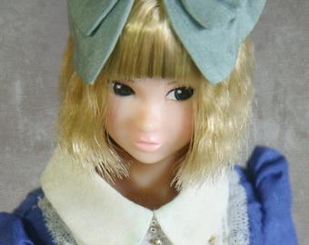 Jiajiadoll- blue bowknot head hoop fits momoko and Misaki and OB and unoa light dorandoran