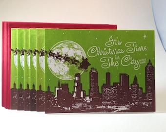 30 Pack Atlanta Christmas Card - Green