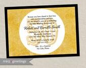 50th anniversary invitation - Golden gold anniversary wedding party invite (Printable Digital File)