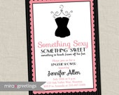 Paris Pink Lingerie Shower Invitation - French lingerie bridal shower - nightie invite (Printable Digital File)
