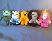 Crochet Adventure Time mini figure Dolls