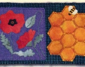Poppies - Rug Coffee, Tea or Bee? Mug Rug Series