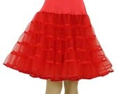 Vintage red made by Malco Modes petticoat crinoline skirt