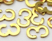 Brass 3-E Chain Connector, 50 Raw Brass Chain Connectors (8x5mm)  Brs 8124 L032