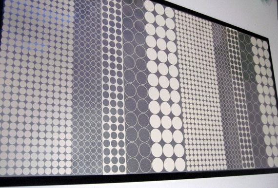 Dot Circle 12x24 Magnet Dry Erase Memo Board By Ekohdesign