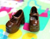 Blythe Chocolate Brown Platform Mary Jane Doll shoes
