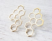 Kim Post Earrings, statement geometric earrings, Scandinavian design
