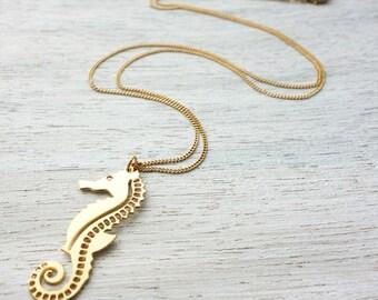 Seahorse Necklace, underwater inspiration, ocean them, sea life