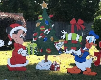 Wooden Christmas Yard Art Disney