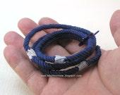true blue string bracelets nothing bracelets soft bangles skinny bracelets grommet bracelets rope jewelry 3223