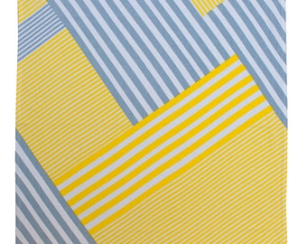 Lines - Screen printed tea towel in Yellow/Grey