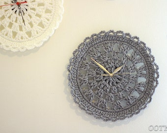 Crochet  clock pattern for your House home decor clock Crochet Pattern  Instant Download pdf crochet pattern