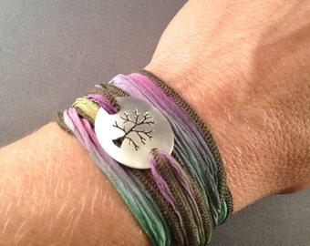 Tree of Life Wrap Bracelet,Wrap Bracelet, Nature Jewelry