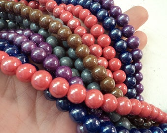 Glass Bead Mix - 50 pieces - 8mm - #SH167