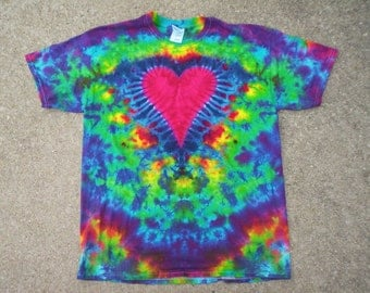 Childrens-Youth Large Heart Tie Dye