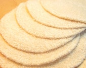 Eye makeup removal pads -  7 pack. Re-usable Organic Cotton TERRY CLOTH