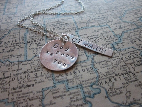 The Olive Necklace - Special Date Custom Necklace