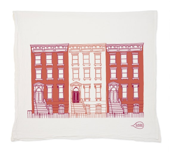 Brownstones Tea Towel
