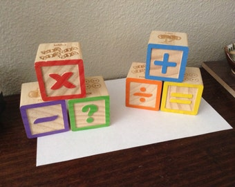 Wood Baby blocks baby shower centerpiece table scatter.