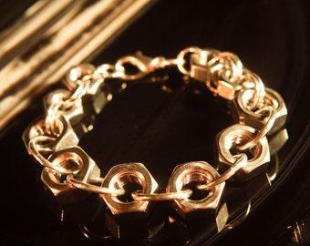 Stainless Steel Hexnut Bracelet