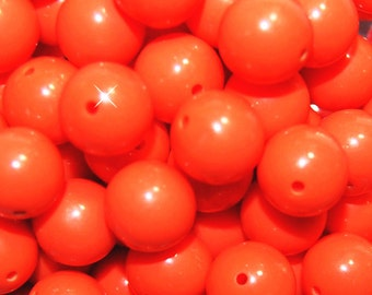 Vintage 36 Burnt Orange 11mm Lucite Beads FL2