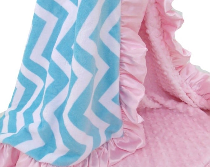 Add a ruffle to a large blanket