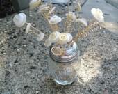 White Button Flower Bouquet