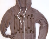 Unisex ARROWS Collection Tri-Blend Hoody - American Apparel - all sizes XS S M L XL (4 Color Options)