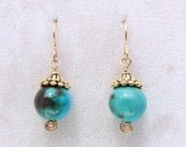 Turquoise and Pewter Earr...