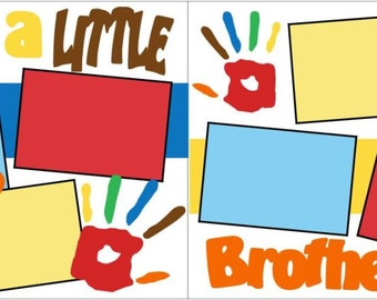I'm A Little Brother 2-page 12x12 do-it-yourself scrapbook kit