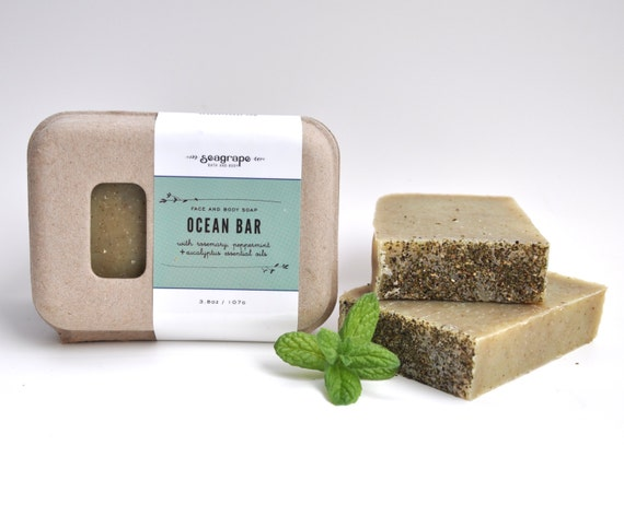 Ocean Bar- nutritious peppermint and spirulina bar for better, healthier skin