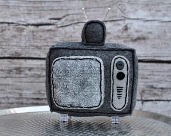 Static Screened Plush Television