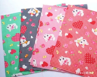 SALE - LECIEN Cats Heart - 4 Fat Quarter Bundle Set - F186