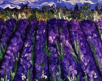 Lavender Farm ~ original acrylic painting~Northern Michigan