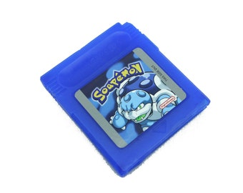 Soapemon Gameboy Blue Soap Cartridge, Retro Video Game Geek Gift