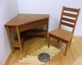 Miniature Corner Desk and Chair Set