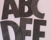 RESERVED for seasearider  17 Vintage Black Rubber Letters