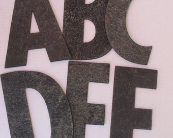 Your Choice of one Vintage Black Rubber Letter