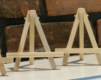 Small Wooden Easels - Natural Wood - ACEO - Buy 2 get 1 free
