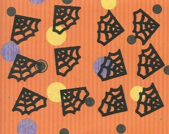 Lot of 12 Black Spider Web Photo Corner Punchies