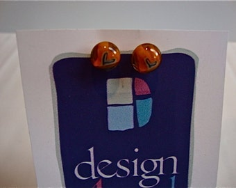 Design4Soul's Orange Heart Glass Post Earrings