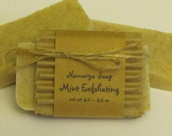 Mint Exfoliating Cold Process Soap