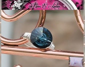Montana Blue Crystal Wire Wrapped Custom Ring