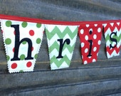 Merry Christmas fabric bunting, Christmas garland, Christmas banner, Christmas Decoration