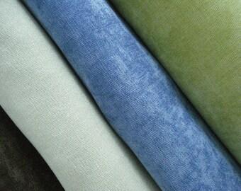ANTIQUE VELVET-Both Sides-Decorative  Designer Pillow Cover-Sky Blue -Chocolate-Ivory-Celery Green   Throw/Toss/Lumbar Pillow